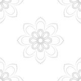 Floral Fine Seamless Vector Pattern. Floral vector light gray ornament. Seamless abstract classic fine pattern Stock Images