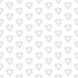 Floral Fine Seamless Vector Pattern. Floral vector light silver ornament. Seamless abstract background with fine pattern Royalty Free Stock Image