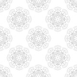Floral Fine Seamless Vector Pattern. Floral vector light silver ornament. Seamless abstract background with fine pattern Royalty Free Stock Photo