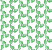 Floral Fine Seamless Vector Pattern. Floral vector ornament. Seamless abstract classic fine pattern with green leafs Royalty Free Stock Images