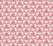 Floral Fine Seamless Vector Red Pattern Stock Photos
