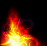 Floral Fire. Fire with smooth flower leafs Royalty Free Stock Photo