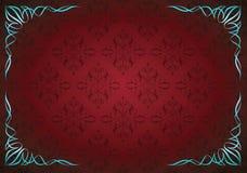 Κόκκινο αφηρημένο floral υπόβαθρο με τη γωνία floral Στοκ εικόνες με δικαίωμα ελεύθερης χρήσης