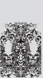 Floral flow. Black& white retro floral design template Stock Photos