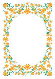 Floral_flower_frame. FLORAL flower DECORATIVE FRAME ISOLATED ON WHITE BACKGROUND, VECTOR ILLUSTRATION Royalty Free Stock Photos