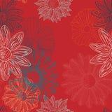 Floral Flower Funk vs Bizarro Blood Orange royalty free illustration