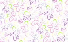 Floral flower lillac elegant vector simple linear colorful brigh Royalty Free Stock Photography