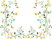 Floral flower ornament Stock Photography
