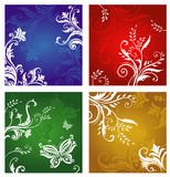 Floral and flower ornaments Stock Photo