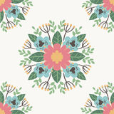 Floral flower pattern ornament vector illustration hand drawn seamless pattern background Stock Image