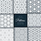 Floral and flower style patterns collection pack Stock Image