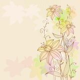 Floral flowers background Stock Photography