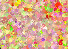Floral. Flowers Background in Multiple Hues stock illustration
