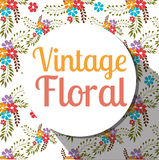 Floral and flowers decorative design. Floral and flowers vintage decorative design, vector illustration Stock Image