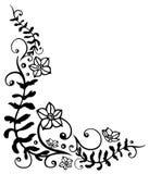 Floral, flowers. Filigree flower border, vector illustration Royalty Free Stock Photo