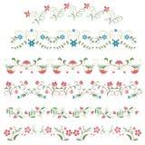 Floral flowers frames. Classic flower card, floral flower frames Royalty Free Stock Images