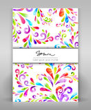 Floral flyer. Colorful background for card, poster, folder and others vector illustration