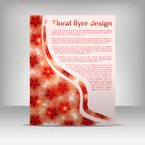 Floral flyer design Royalty Free Stock Photo