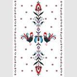 Floral folk pattern Royalty Free Stock Photography