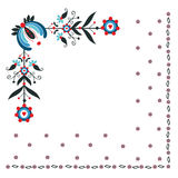 Floral folk pattern Royalty Free Stock Images