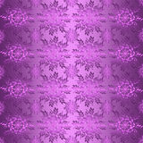 Floral folk purple seamless pattern Royalty Free Stock Image