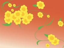 Floral, fond de source Images libres de droits