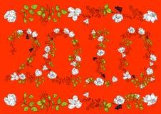 Floral font. 2010 Stock Images