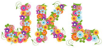 Floral Font Stock Photography