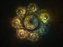 Floral fractal επίδρασης διακοσμήσεων υπόβαθρο Στοκ εικόνες με δικαίωμα ελεύθερης χρήσης