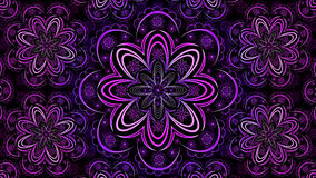 Floral Fractal ταπετσαρία Mandala Στοκ Φωτογραφία