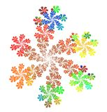 Floral Fractal διανυσματική απεικόνιση