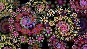 Floral Fractal Background Royalty Free Stock Photography