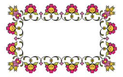 Floral frame 1. Vector floral frame for your text sample, funny frame for birthday card Stock Images