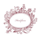 Floral frame. Vector floral frame with place for your text Stock Images
