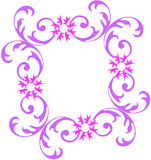 Floral frame. Purple color floral frame with flowers Royalty Free Stock Image
