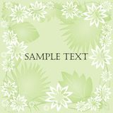 Floral frame. Card with space for text Royalty Free Stock Image