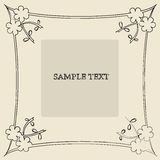 Floral frame. Sample text card Royalty Free Stock Photo