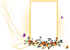 Floral frame royalty free stock photography
