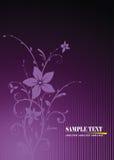 Floral frame. Illustration, purple  floral frame Royalty Free Stock Image