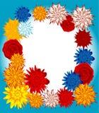 Floral frame. Vector floral frame on blue background Royalty Free Stock Photo
