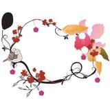 Floral frame. Illustration of a floral frame Stock Photography