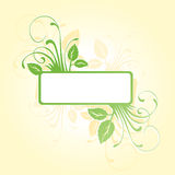 Floral frame. Floral cover with green leaves Royalty Free Stock Photo