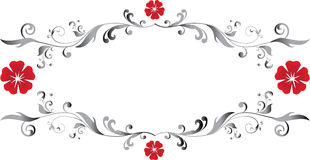 Floral frame. With space for text Stock Photography