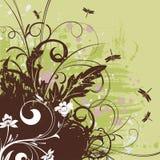 Floral frame vector illustration