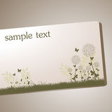 Floral frame. Card vector illustration Royalty Free Stock Photography