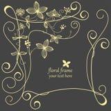 Floral frame. Hand drawn festive floral frame Stock Photography