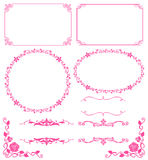 Floral frame. Set of decoration of floral lace.Vector illustration Stock Images