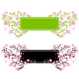 Floral frame. Floral background (abstract vector ornament Royalty Free Stock Photos