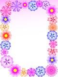 Floral frame. Vector illustration for design Royalty Free Stock Images