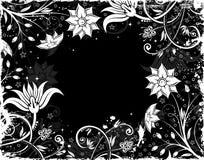 Floral frame. Grunge floral frame with blot, element for design,  illustration Royalty Free Stock Photos